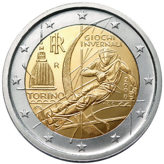 2 euro winter olympics in turin 2006 2006 series for Coin torino
