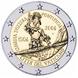 2 euro | Vatican City | 500th Anniversary of the Swiss Guard | 2006