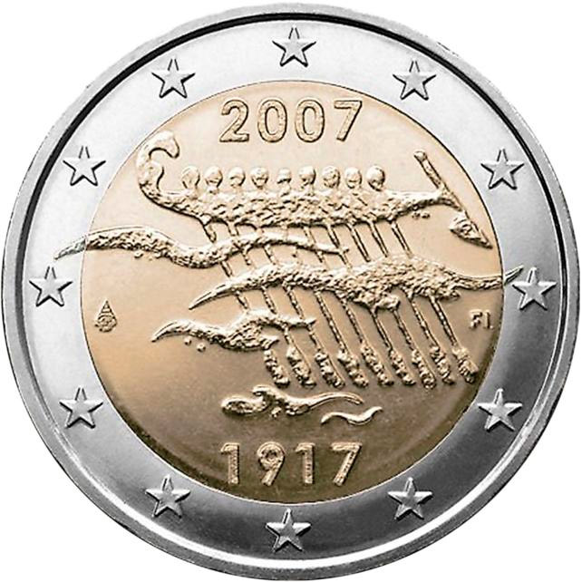 2 euro 90th Anniversary of Finland's Independence - 2007 - Series: Commemorative 2 euro coins - Finland