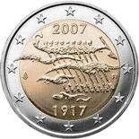 2 euro | Finland | 90th Anniversary of Finland's Independence | 2007