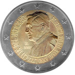 2 euro 80th birthday of His Holiness Pope Benedict XVI - 2007 - Series: Commemorative 2 euro coins - Vatican City