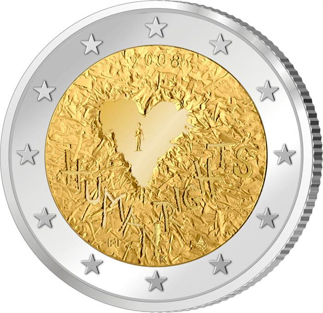 2 euro 60th Anniversary of the Universal Declaration of Human Rights - 2008 - Series: Commemorative 2 euro coins - Finland