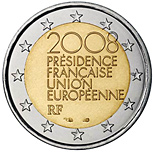 2 euro French Presidency of the Council of the European Union - 2008 - Series: Commemorative 2 euro coins - France