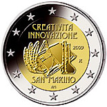 2 euro European Year of Creativity and Innovation - 2009 - Series: Commemorative 2 euro coins - San Marino