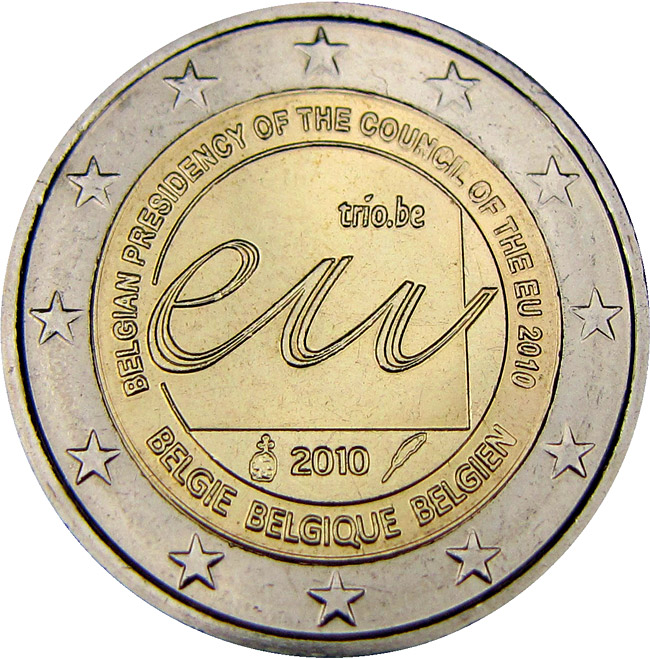 2 euro Belgian Presidency of the Council of the European Union in 2010  - 2010 - Series: Commemorative 2 euro coins - Belgium