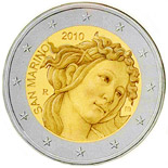 2 euro 500th Anniversary of the death of Sandro Botticelli - 2010 - Series: Commemorative 2 euro coins - San Marino