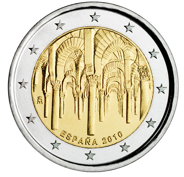 2 euro UNESCO: The historic town center of Cordoba  - 2010 - Series: Commemorative 2 euro coins - Spain
