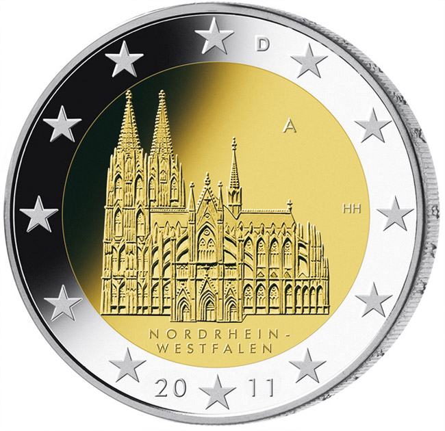 2 euro Federal state of North Rhine-Westphalia  - 2011 - Series: Commemorative 2 euro coins - Germany