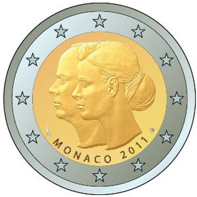 2 euro The wedding of Prince Albert and Charlene Wittstock  - 2011 - Series: Commemorative 2 euro coins - Monaco