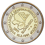 2 euro 20th anniversary of the formation of the Visegrad Group  - 2011 - Series: Commemorative 2 euro coins - Slovakia