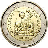 2 euro 500th Anniversary of the birth of Giorgio Vasari - 2011 - Series: Commemorative 2 euro coins - San Marino
