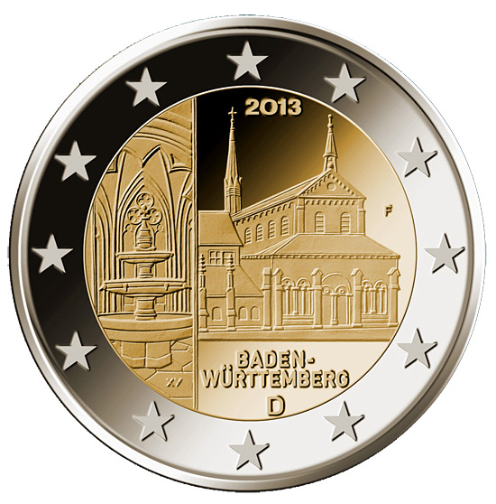 Image of a coin 2 euro | Germany | Baden-Württemberg: Kloster Maulbronn | 2013
