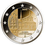 2 euro Baden-Württemberg: Kloster Maulbronn - 2013 - Series: Commemorative 2 euro coins - Germany