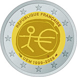 2 euro | France | 10th Anniversary of the Introduction of the Euro | 2009