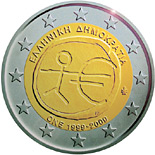 2 euro 10th Anniversary of the Introduction of the Euro - 2009 - Series: Commemorative 2 euro coins - Greece