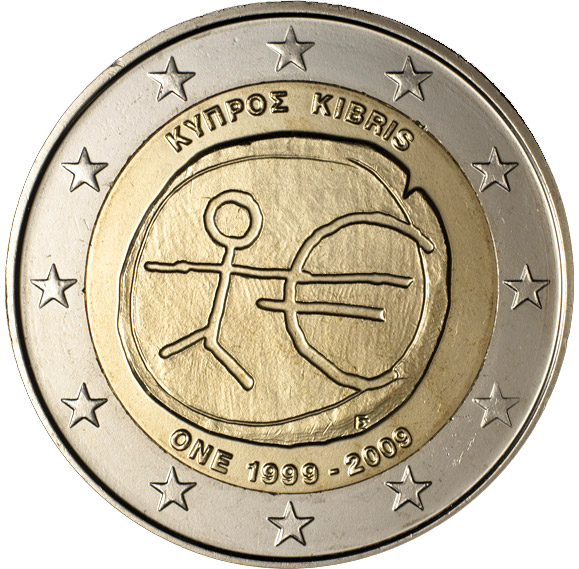 2 euro 10th Anniversary of the Introduction of the Euro - 2009 - Series: Commemorative 2 euro coins - Cyprus
