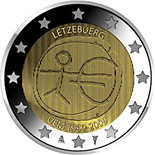 2 euro 10th Anniversary of the Introduction of the Euro - 2009 - Series: Commemorative 2 euro coins - Luxembourg