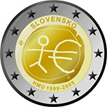 2 euro 10th Anniversary of the Introduction of the Euro - 2009 - Series: Commemorative 2 euro coins - Slovakia