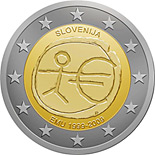 2 euro 10th Anniversary of the Introduction of the Euro - 2009 - Series: Commemorative 2 euro coins - Slovenia