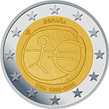 2 euro 10th Anniversary of the Introduction of the Euro - 2009 - Series: Commemorative 2 euro coins - Spain