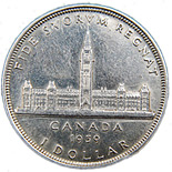 1 dollar The Royal Visit - 1939 - Series: Commemorative Circulation 1 dollar coins and Loonies - Canada