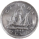 1 dollar Newfoundland's accession to Canada - 1949 - Series: Commemorative Circulation 1 dollar coins and Loonies - Canada