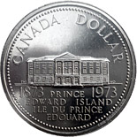 1 dollar Prince Edward Island's centennial - 1973 - Series: Commemorative Circulation 1 dollar coins and Loonies - Canada