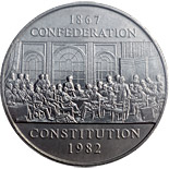1 dollar The Constitution commemorative coin - 1982 - Series: Commemorative Circulation 1 dollar coins and Loonies - Canada