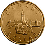 1 dollar The 125th Anniversary of Confederation - 1992 - Series: Commemorative Circulation 1 dollar coins and Loonies - Canada