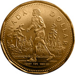 1 dollar Terry Fox - 2005 - Series: Commemorative Circulation 1 dollar coins and Loonies - Canada