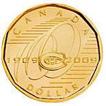 1 dollar Montreal Canadiens - 2009 - Series: Commemorative Circulation 1 dollar coins and Loonies - Canada