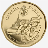 1 dollar Navy Marine 2010 - 2010 - Series: Commemorative Circulation 1 dollar coins and Loonies - Canada