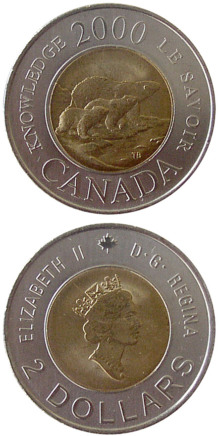 2 dollars Path of Knowledge - 2000 - Series: Commemorative Circulation Toonies - Canada
