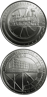 200 koruna coin 100th anniversary of foundation of the National Technical Museum | Czech Republic 2008