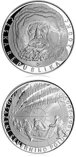 200 koruna coin 100th anniversary of reaching of the North Pole | Czech Republic 2009