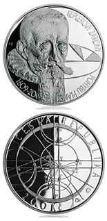 200 koruna coin 400th anniversary - Kepler´ s Laws of Planetary Motion | Czech Republic 2009