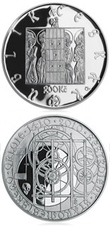 200 korun 600th anniversary - Construction of the Astronomical Clock in Prague's Old Town - 2010 - Series: Silver 200 kronen coins - Czech Republic