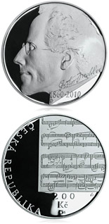 200 koruna coin 150th anniversary - Birth of composer Gustav Mahler | Czech Republic 2010