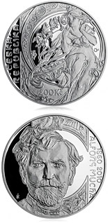 200 koruna coin 150th anniversary - Birth of painter Alfons Mucha | Czech Republic 2010
