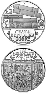 200 koruna coin 500th anniversary of birth of Jiří Melantrich | Czech Republic 2011