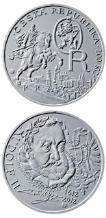 200 korun Death of King Rudolf II 2012 - Series: Silver 200 kronen coins - Czech Republic