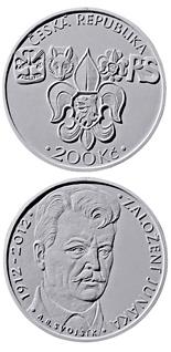 200 korun Foundation of Junák scout movement 2012 - Series: Silver 200 kronen coins - Czech Republic