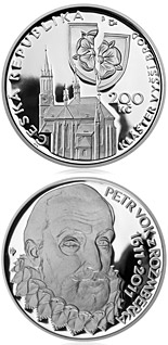 Image of 200 koruna coin - Death of Petr Vok of Rožmberk | Czech Republic 2011.  The Silver coin is of Proof, BU quality.