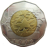 25 kuna coin European Union | Croatia 1999