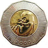 25 kuna coin The Year 2000-Human Fetus | Croatia 2000