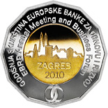 Image of 25 kuna coin EBRD Annual Meeting and Business Forum | Croatia 2010.  The Copper–Nickel (CuNi) coin is of BU quality.