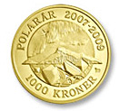 1000 krone Northern Lights  - 2009 - Series: Polar coins - Denmark