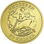 Image of a coin 20 kroner | Denmark | The Ram | 2007
