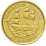 20 krone coin The Frigate Jylland | Denmark 2007