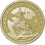 20 kroner The Royal Yacht Dannebrog - 2008 - Series: Ship coins - Denmark